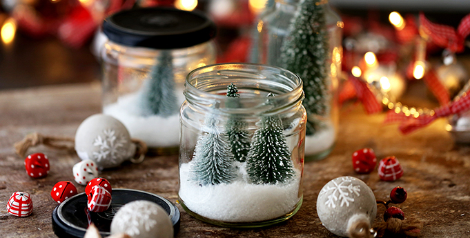 Upcycling Gläser Weihnachten