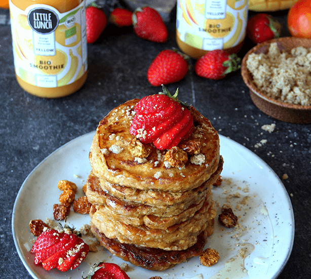 Rezept: Yellow Smoothie Hafer-Pancakes