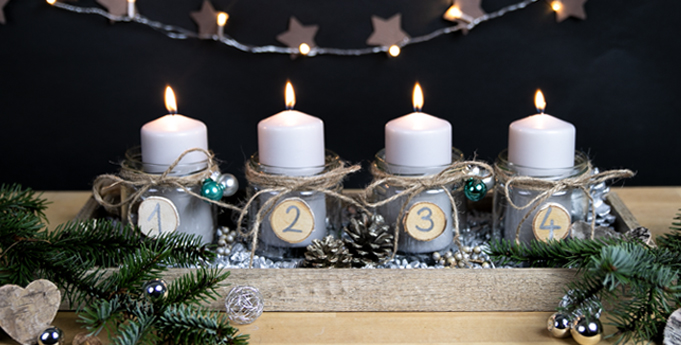 upcycling adventskranz aus gl sern little lunch. Black Bedroom Furniture Sets. Home Design Ideas
